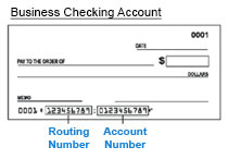 BusinessCheckingRoutingNumber